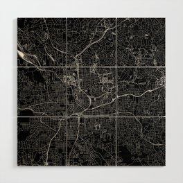 Atlanta Black Map Wood Wall Art