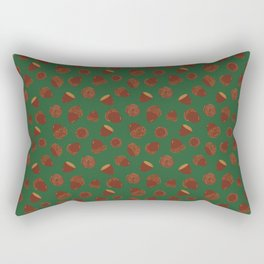 Acorns on Green Rectangular Pillow