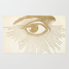I See You. Vintage Gold Antique Paper Rug