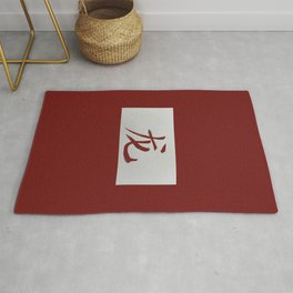 Chinese zodiac sign Dragon red Rug