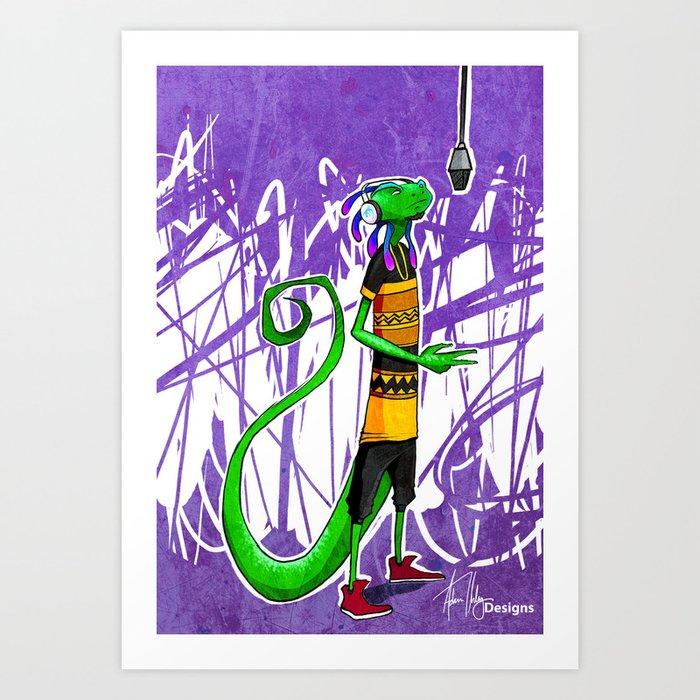 Geko Art Print