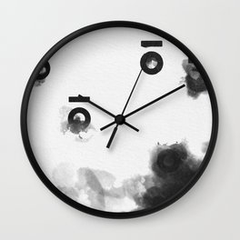 Keyhole Inkblots (Portrait) Wall Clock
