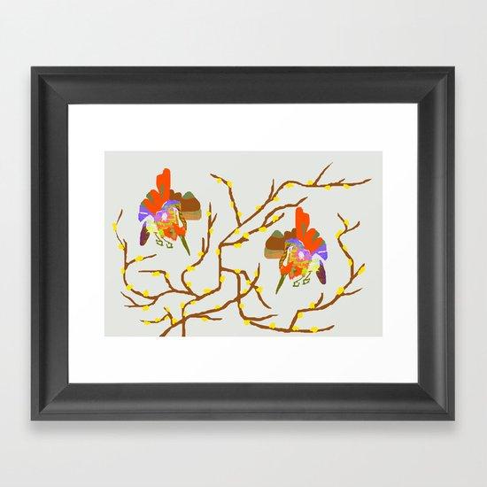 Birds on the Tree Framed Art Print