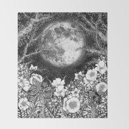 Midnight in the Garden Throw Blanket