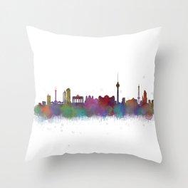Berlin City Skyline HQ4 Throw Pillow