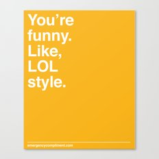 LOL Style Canvas Print