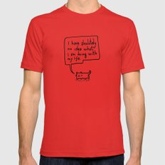Little Cat MEDIUM Mens Fitted Tee Red