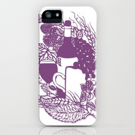 Hoops and grapes  iPhone Case