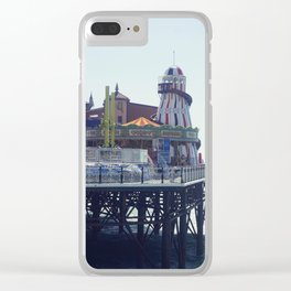 Vintage seaside pier. Clear iPhone Case