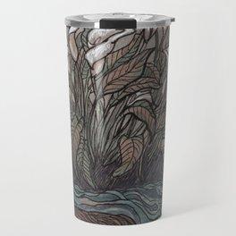 River Otter and Calla Lilies Travel Mug