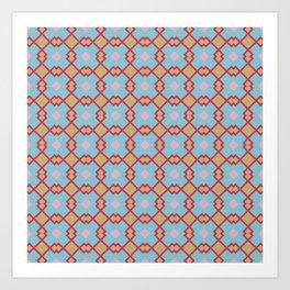 Geometric plaid Art Print