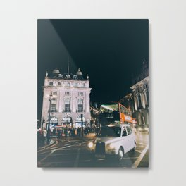 Piccadilly Cirkus by Night Metal Print