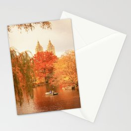 Central Park New York City Autumn Stationery Cards