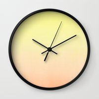 tequila Wall Clocks featuring Tequila Sunrise by Leah Flores