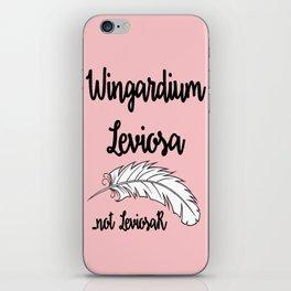 Wingardium Leviosa - pink iPhone Skin