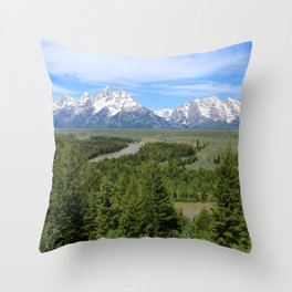 Snake River And The Grand Tetons Throw Pillow