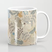 floral pattern Mugs featuring Floral pattern by De Assuncao création