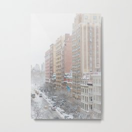 Upper West Side Snow - New York City Photography Metal Print