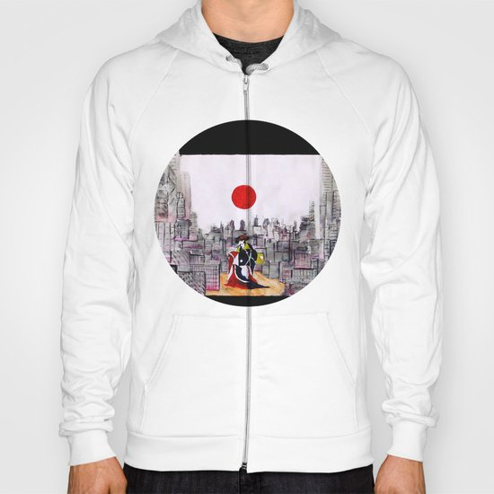 Japanese man in A Japanese landscape Hoody