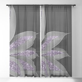 Agave Finesse Glitter Glam #3 #tropical #decor #art #society6 Sheer Curtain