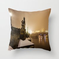 prague Throw Pillows featuring Prague 6 by Veronika