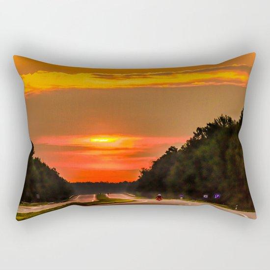 Road to the sun Rectangular Pillow