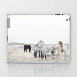 WILD AND FREE  1 - HORSES OF ICELAND Laptop & iPad Skin