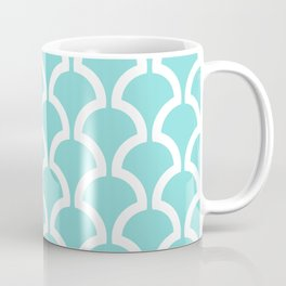 Classic Fan or Scallop Pattern 731 Turquoise Coffee Mug