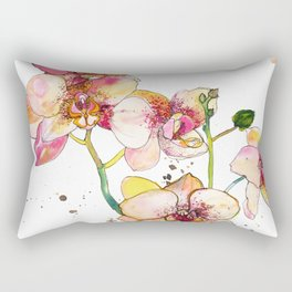 Pink Orchids Rectangular Pillow