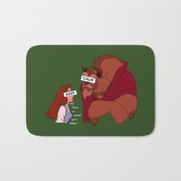 Keep Calm: Belle & Beast Bath Mat