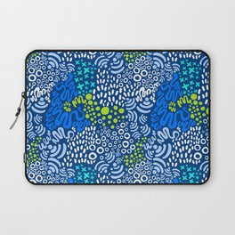Nectarine Concord - Playful Abstract Shapes_001 Laptop Sleeve