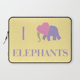 I Heart Elephants Laptop Sleeve