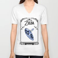 majora V-neck T-shirts featuring Zelda legend - Ocarina of time by Art & Be