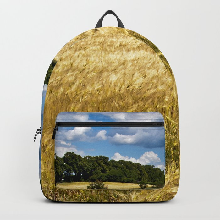 Golden wheat field poetry Backpack