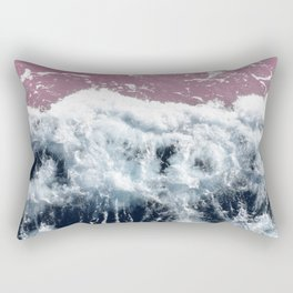 Aerial View, Blue Waves Rectangular Pillow