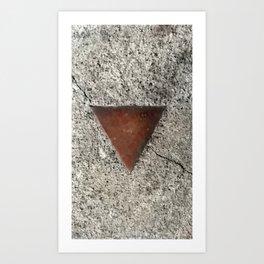 Granite Triangle Art Print