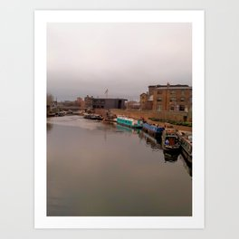 Regent's Canal near King's Cross Art Print