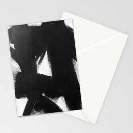 No. 92 - Modern abstract black and white textured painting Stationery Cards