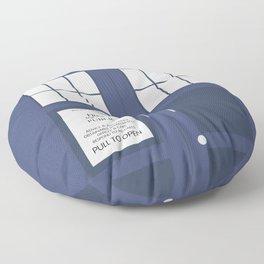 Smaller On The Outside Tardis Floor Pillow