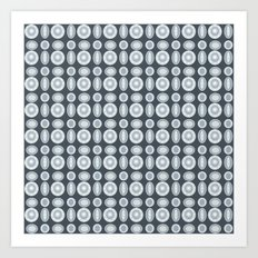Bling Rings on Gray Art Print