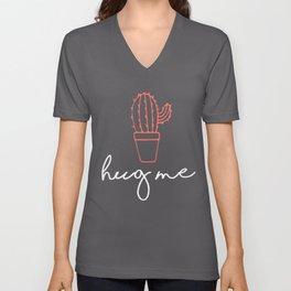Cactus Lover Hug Me Gift Design Unisex V-Neck