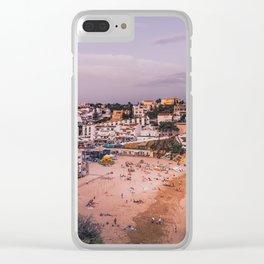 Carvoeiro town and beach in Lagoa, Algarve, Portugal. Clear iPhone Case