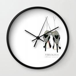Diemond shoes Wall Clock