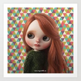 Deera bythe custom doll by Erregiro Art Print