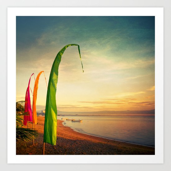 4 colored flags Art Print