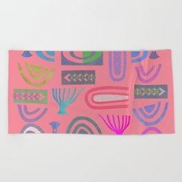 Pink bits Beach Towel