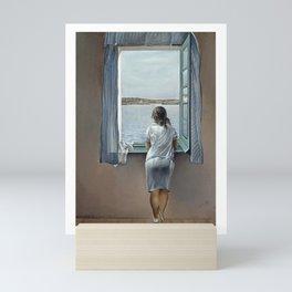 Salvador Dali Young Woman at a Window 1925 Artwork for Wall Art, Prints, Posters, Tshirts, Mwn, Women, Youth Mini Art Print