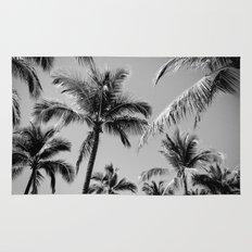 Black Palm Trees Rug
