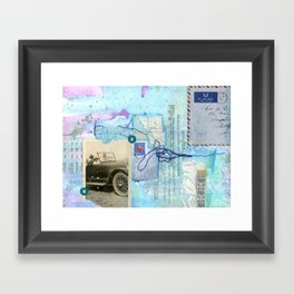 a day by the sea Framed Art Print