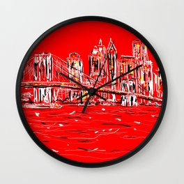 Brace yourselves she's from Brooklyn!! Wall Clock